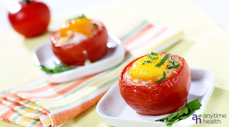 Baked Eggs In Roasted Tomatoes